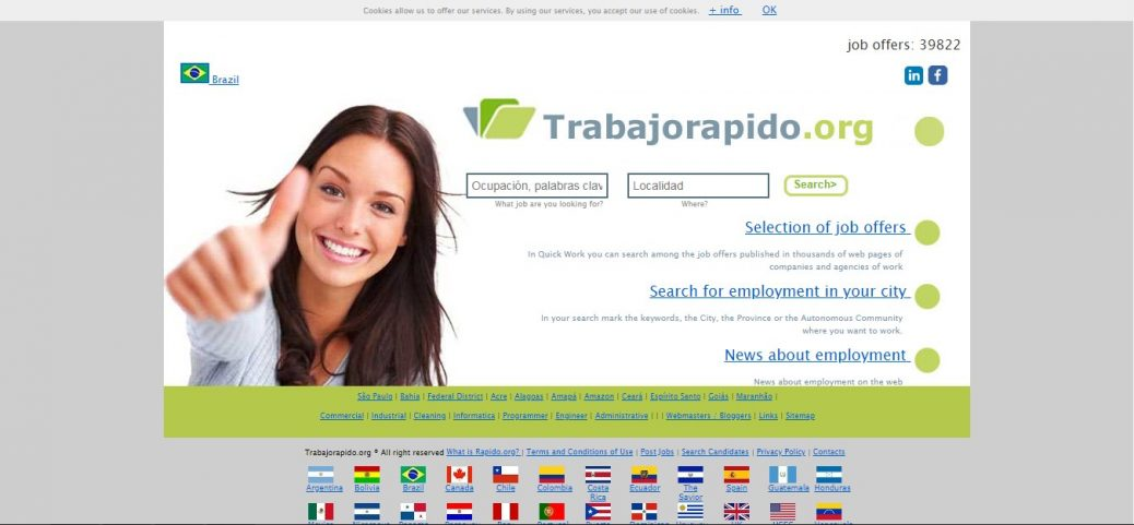 trabajorapido.org - job sites in brazil