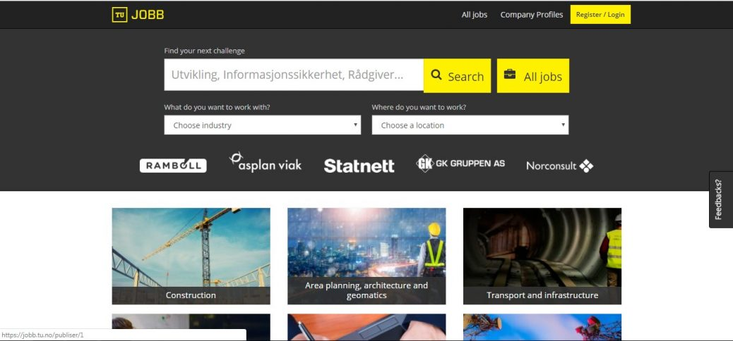 tu.jobb-job websites in norway