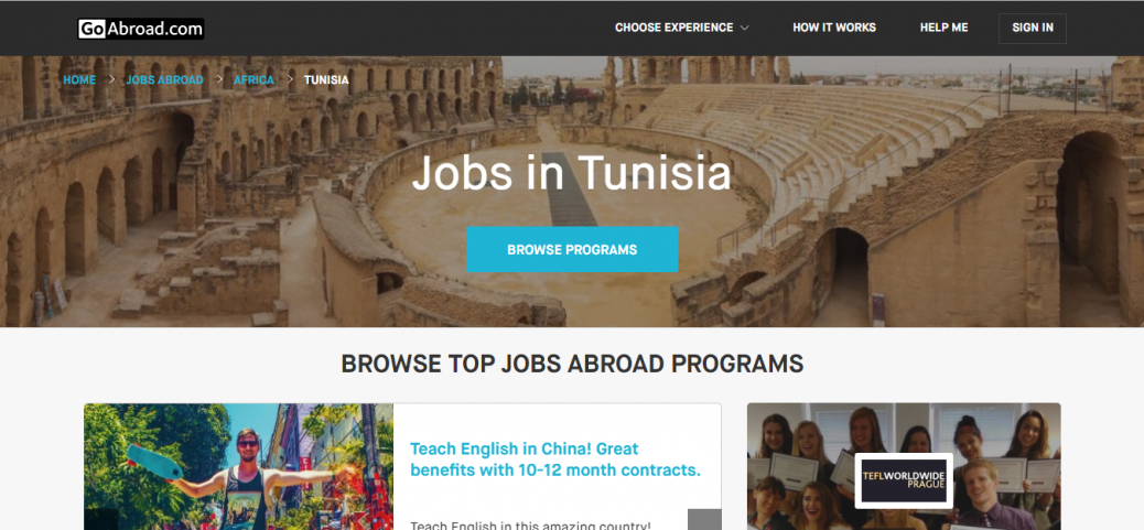Go abroad - job opportunities in tunisia