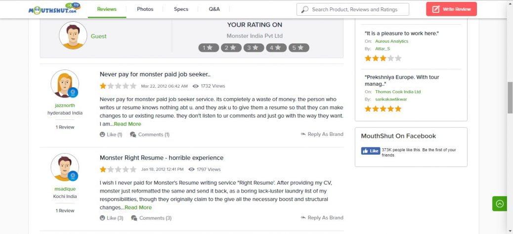 Monster Resume Writing Service