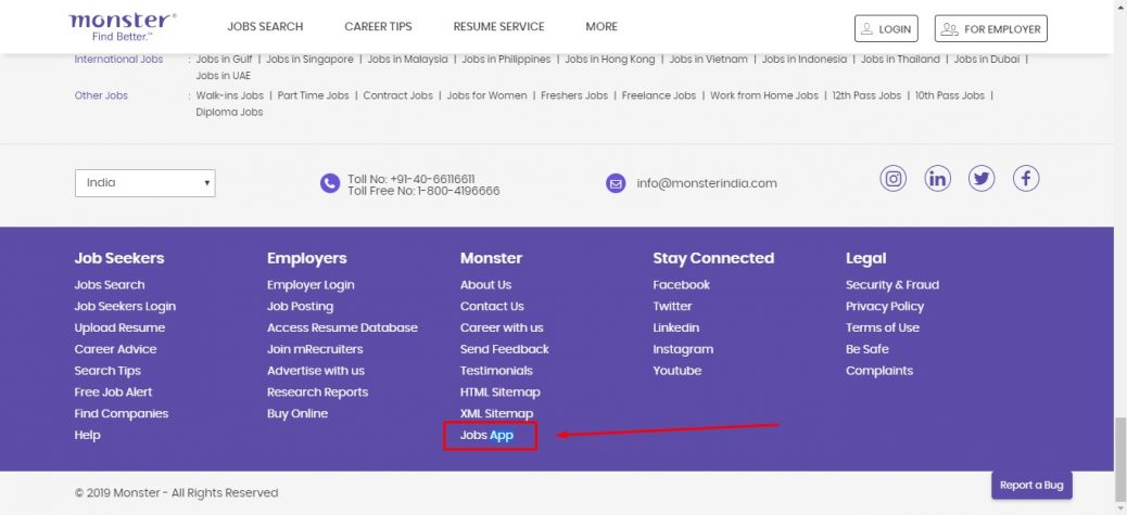 Monsterindia mobile apps - job apps