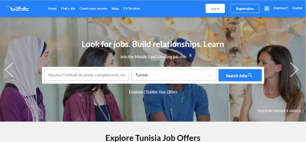 bayt - job opportunities in Tunisia