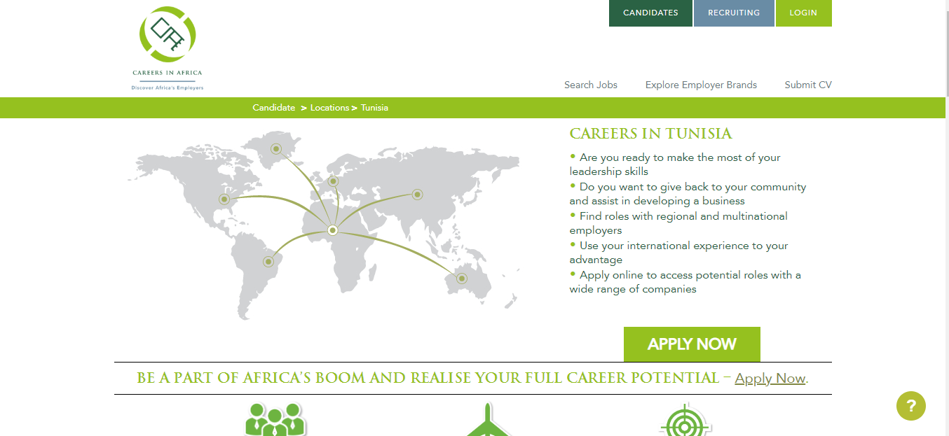 careers in africa - job opportunities in tunisia