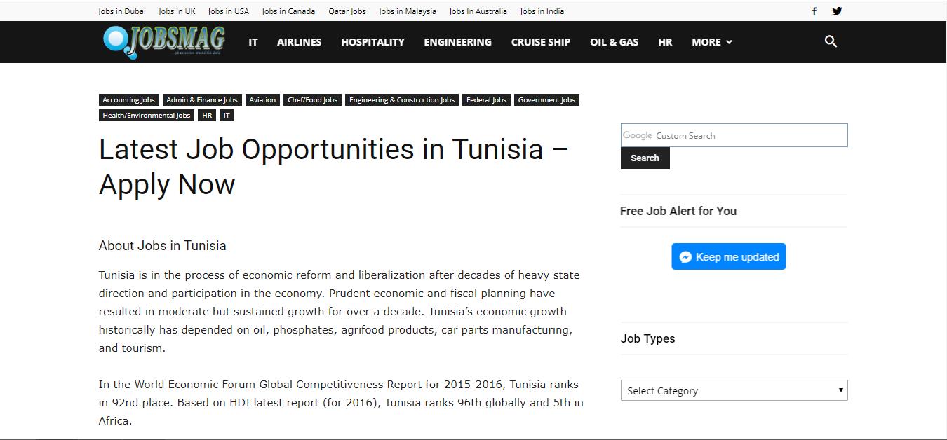jobsmag - job opportunities in tunisia