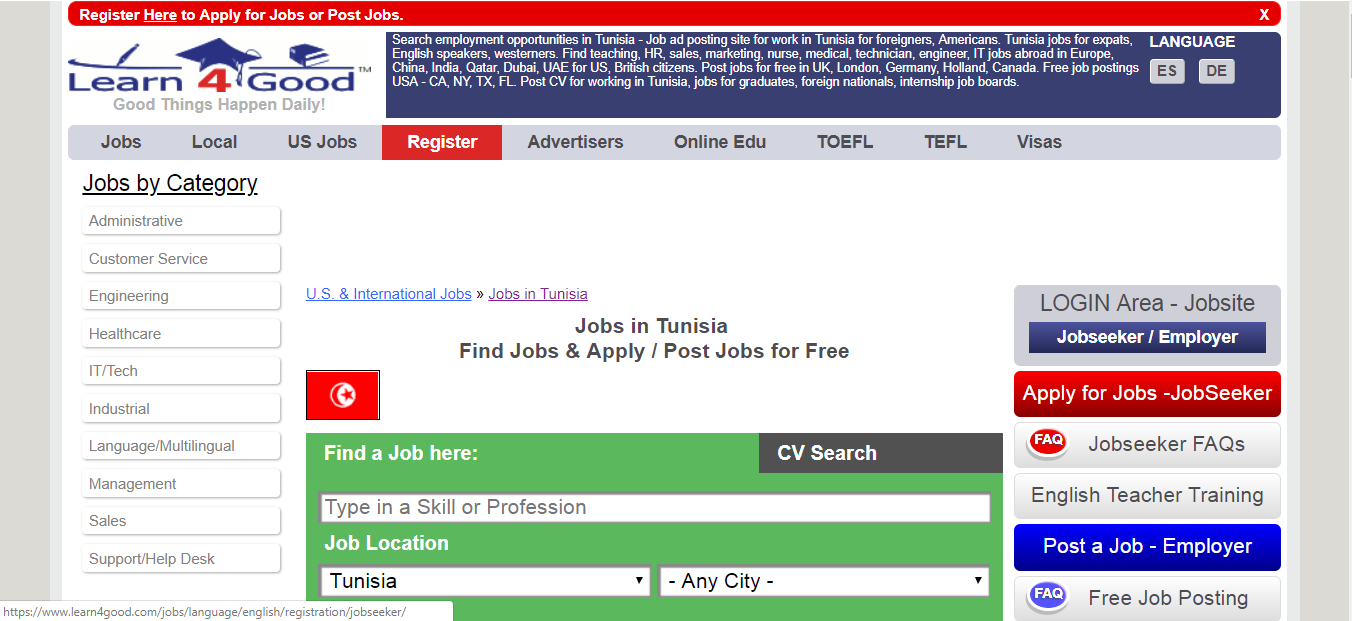 learn4good -job opportunities in tunisia