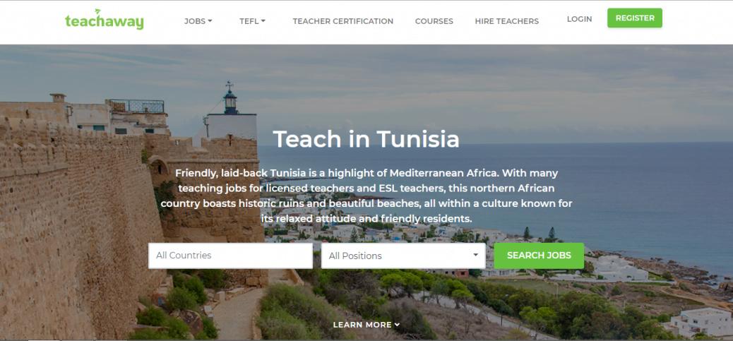 teach away - job opportunities in tunisia