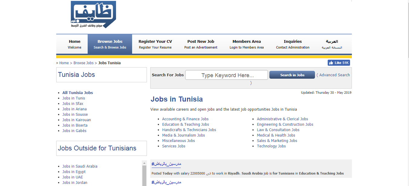 wzafet -job opportunities in tunisia