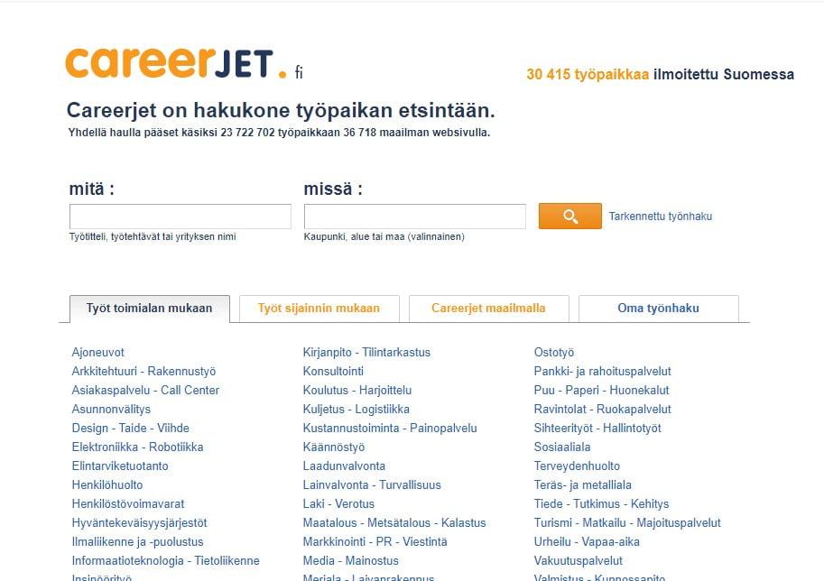 Careerjet Finland-job sites in finland