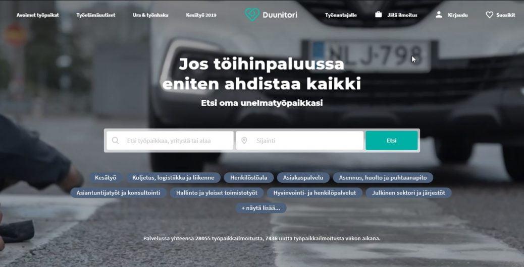 duunitori -job sites in finland