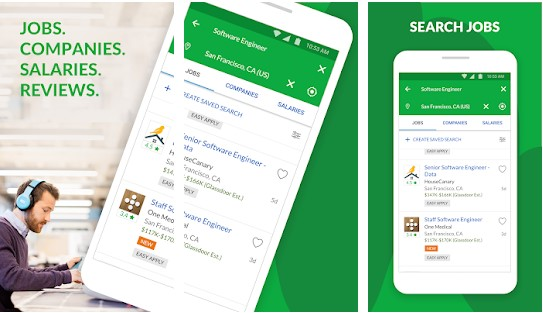 glassdoor job search app