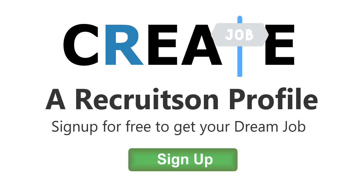 Create a Recruitson Profile