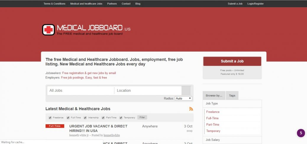 medical jobboard