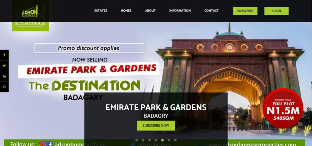 Adron homes - real estate companies in lagos