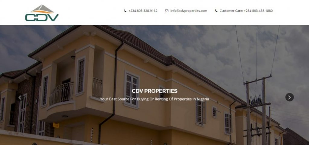 CDV properties- real estate companies in lekki