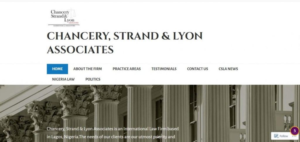Chancery Strand & Lyon(CSL) Associates- law firms in victoria island