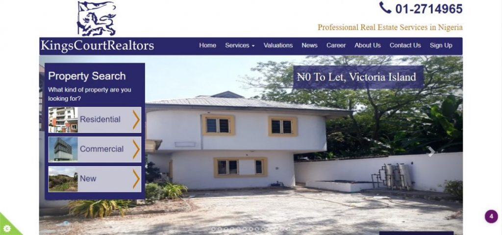 Kings court realtors - real estate companies in Lagos