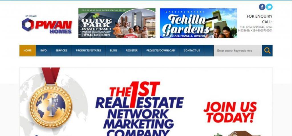 Pwan homes - real estate companies in lagos