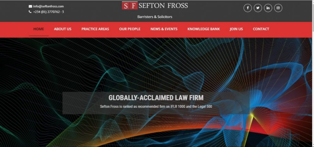 Sefton fross - law firms in lekki