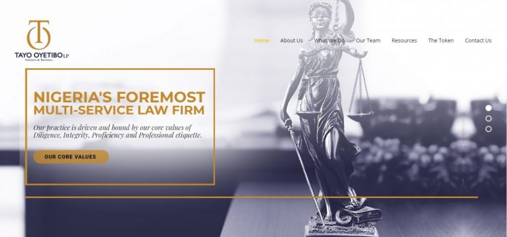 Tayo Oyetibo LP - law firms in lekki