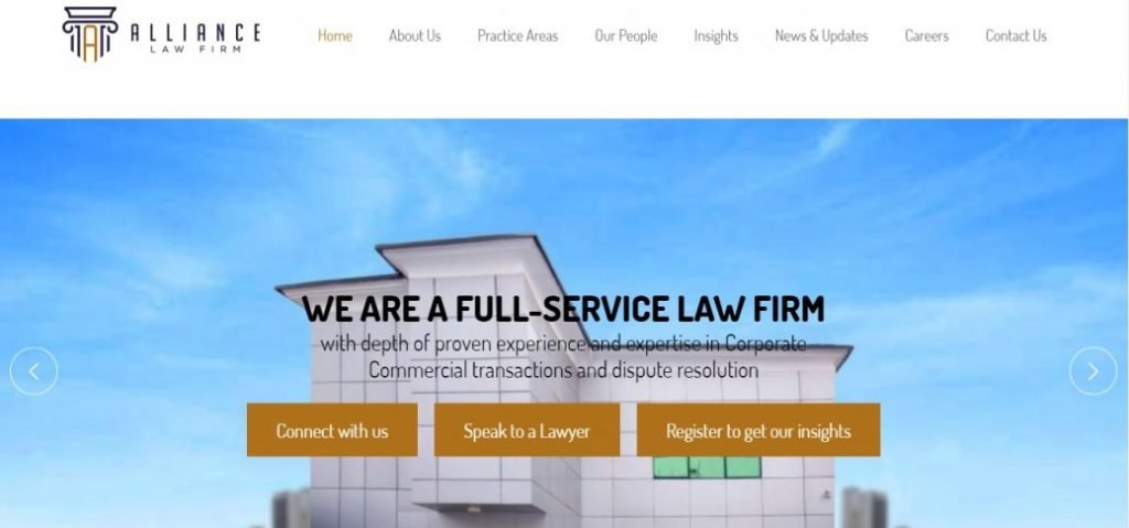 alliance law firm- law firms in victoria island