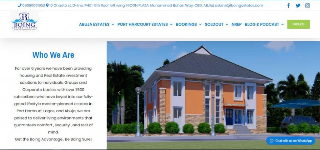 boing luxury estates - real estate companies in abuja