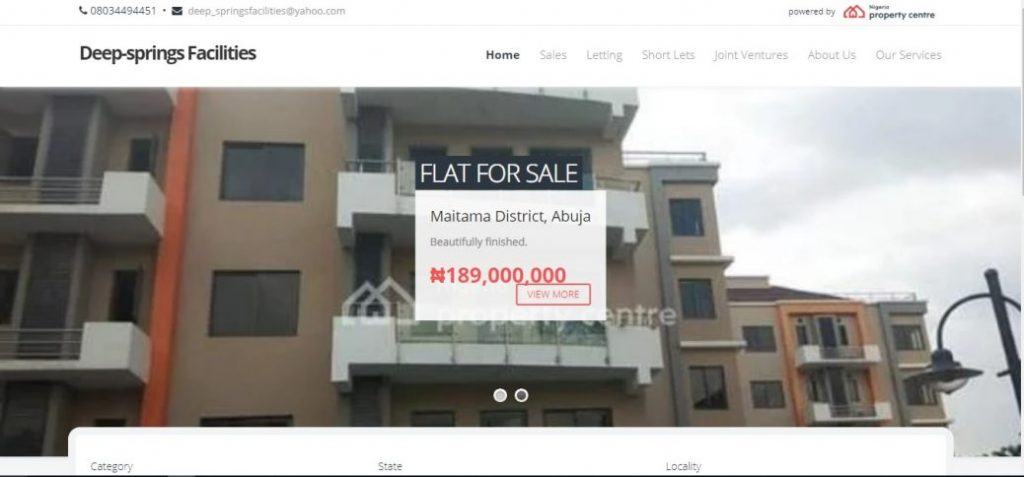 deep springs facilities - real estate companies in Abuja