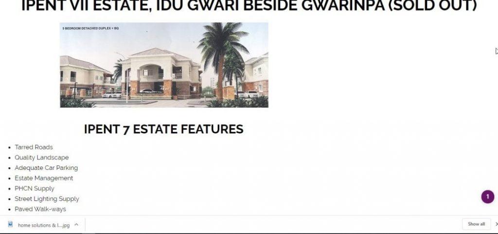 ipent estates - real estate companies in abuja