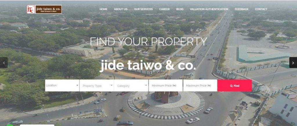 jide taiwo & co - real estate companies in nigeria