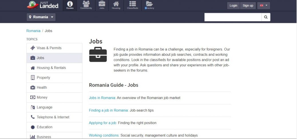 just landed - jobs in romania