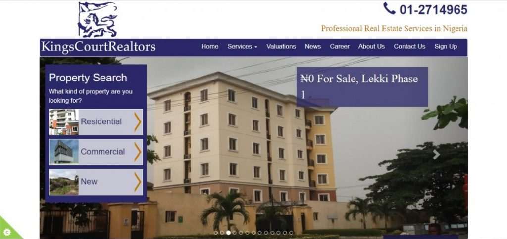 kings court realtors - real estate companies in nigeria