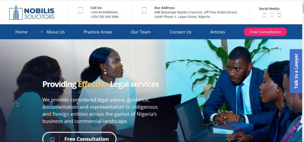 nobilis solicitors - law firms in lekki