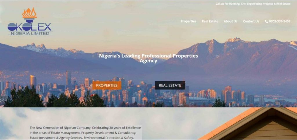 okolex nigeria limited - real estate companies in nigeria