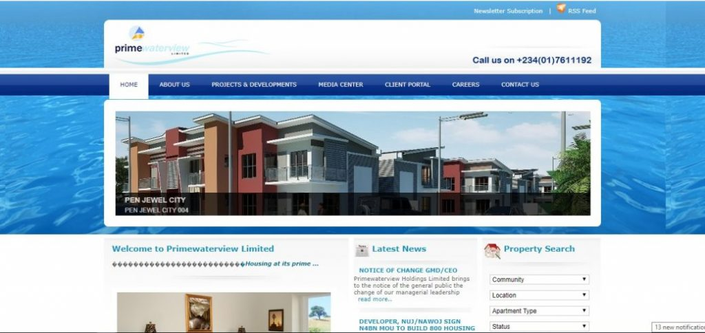 primewaterview - real estate companies in nigeria