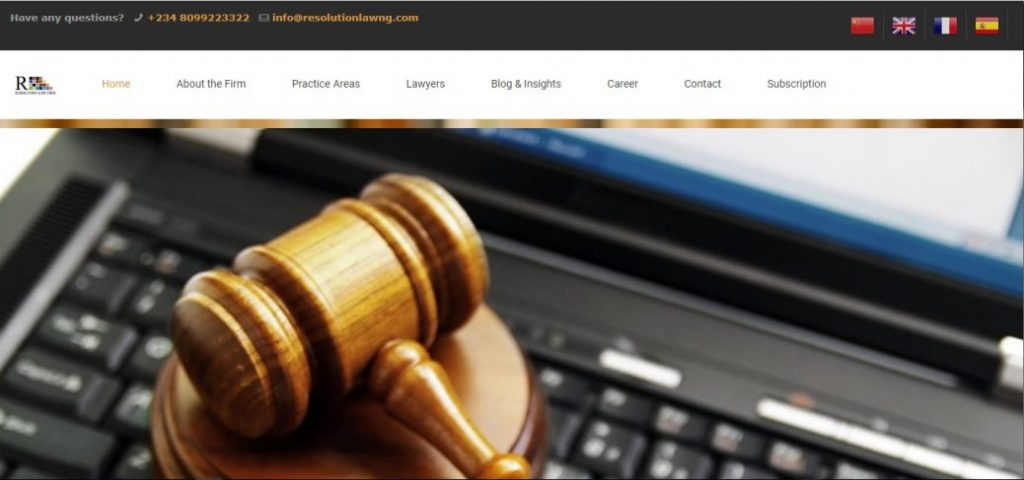 resolution law firm -law firms in Lekki