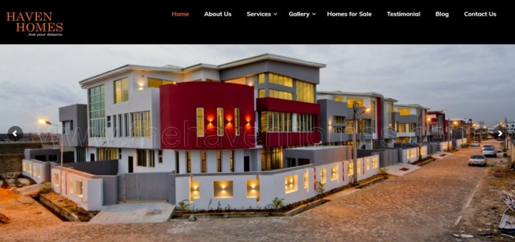 the haven homes - real estate companies in lekki