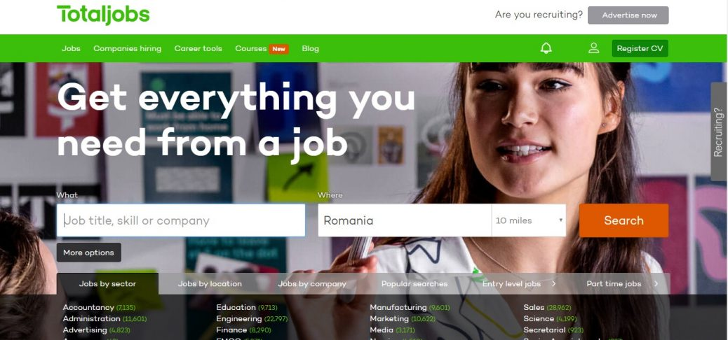 totaljobs - jobs in romania