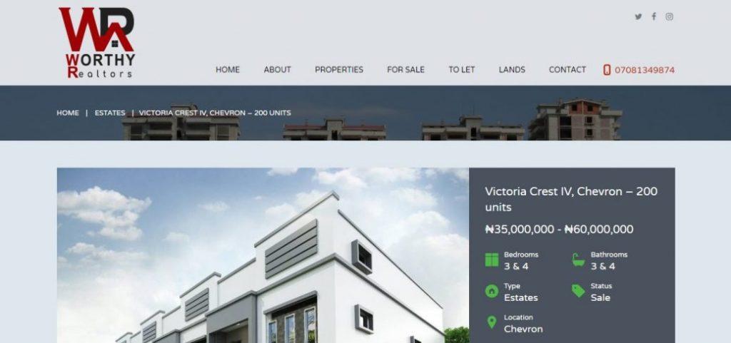 worthy realtors - real estate companies in lekki