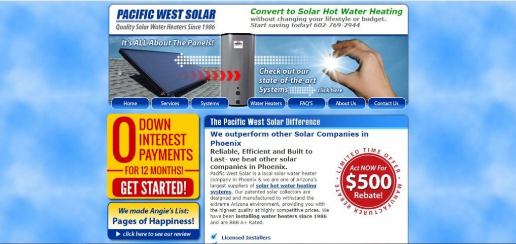 pacific west solar