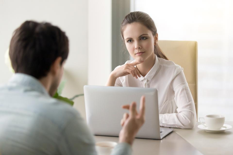 Don't bring up salary questions during the first interview