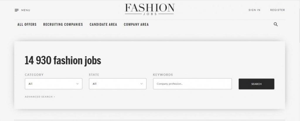 fashion jobs USA