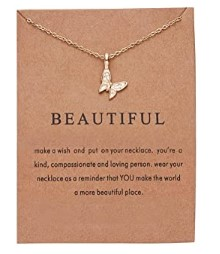 Beautiful Necklace for girls with message card