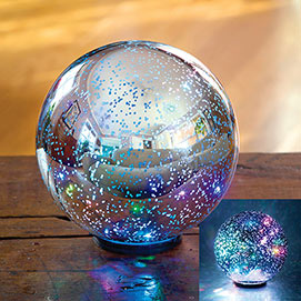 Colour Changing Mercury Glass Ball