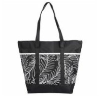 George 3 Pocket Palm Print Tote