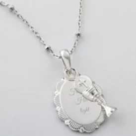 Girls Sterling Silver Communion Chalice Necklace