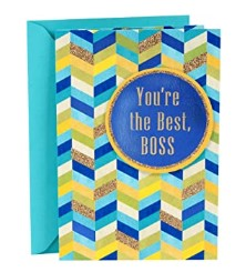 Hallmark Boss's Day Greeting Card ( You're The Best Boss)