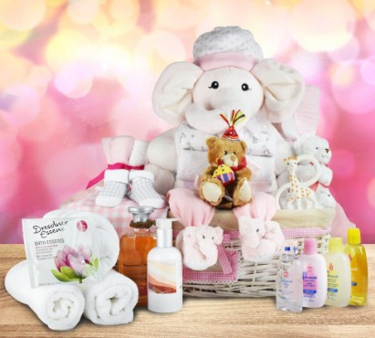 Luxury for Mom and Baby Gift Basket