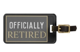 Officially retired luggage tag