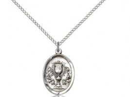 Oval First communion Medal with Chalice