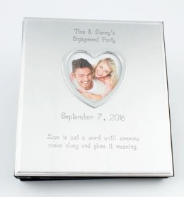 Silver 4X6 Album with Heart Opening