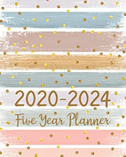 2020-2024 Five Year Planner- 5 Year Monthly Planner For To Do List Journal Notebook